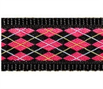 Black & Pink Argyle Dog Collars