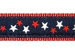 GOA Patriotic Stars 1/2, 3/4 & 1.25 inch Dog & Cat Collar, Harness, Lead & Accessories