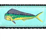 Mint Mahi Mahi Dog Collars