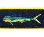 Navy Mahi Mahi Dog Collars