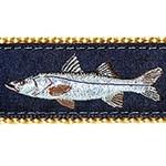 Navy Snook Dog Collars