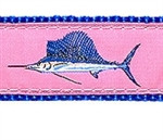Pink Sailfish Dog Collars
