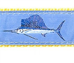 Lt Blue Sailfish Dog Collars