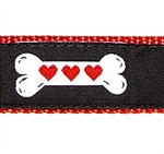 Heart Dog Bone Dog Collars