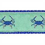 Blue Crab on Green Dog Collars