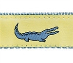 Yellow Alligator Dog Collars