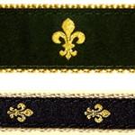 Black Fleur de Lis Dog Collars