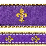 Purple Fleur de Lis Dog Collars