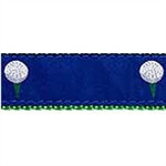 Blue Golf Ball Dog Collars