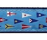 Yacht Club Burgee 3/4 & 1.25 inch Dog Collar, Harness, Lead & Acc