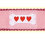Pink Heart Bones Dog Collars