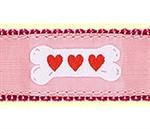 Pink Heart Bones Dog Collars