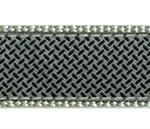 Diamond Plate on Gray Dog Collars