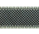 Diamond Plate on Gray 3/4 & 1.25 inch Dog Collar, Harness, Lead & Acc