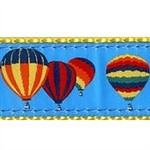 Hot Air Balloons 3/4 & 1.25 inch Dog Collar, Harness, Lead & Acc