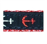 Red,White, Blue Anchor Dog Collars
