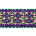 Mardi Gras 1.25 inch Dog Collar, Harness, Lead & Accessories