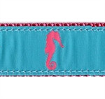 Turquoise Seahorse Dog Collars