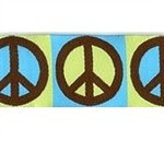 Peace Sign 3/4 & 1.25 inch Dog Collar, Harness, Lead & Accessories