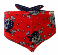 Dog Bandana - Patriot Skull & Crossbone