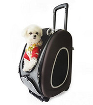 EVA Pet Dog Carrier in Brown - 4 in 1