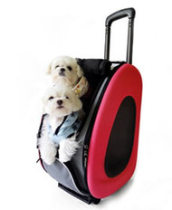 EVA Pet Dog Carrier in Pink - 4 in 1