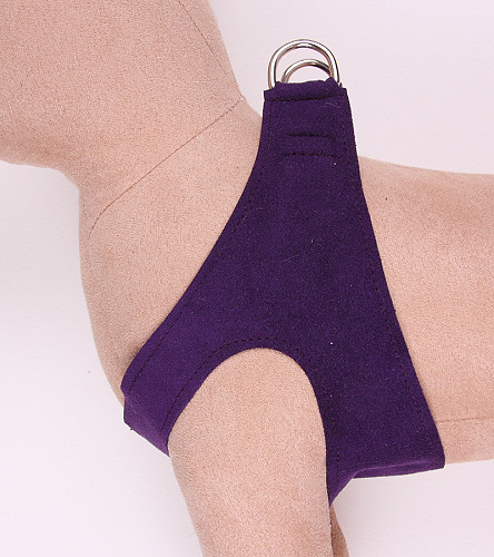Plain Ultrasuede Pet Dog Step In Harness - Amethyst by Susan Lanci Designs