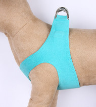 Plain Ultrasuede Pet Dog Step In Harness - Bimini Blue by Susan Lanci Designs