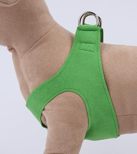Plain Ultrasuede Pet Dog Step In Harness - Green by Susan Lanci Designs