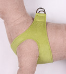 Plain Ultrasuede Pet Dog Step In Harness - Lime Green by Susan Lanci Designs