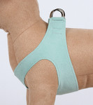 Plain Ultrasuede Pet Dog Step In Harness - Mint by Susan Lanci Designs