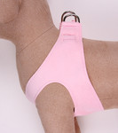 Plain Ultrasuede Pet Dog Step In Harness - Puppy Pink by Susan Lanci Designs