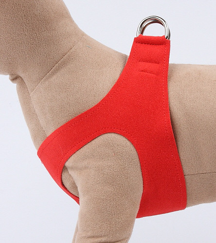Plain Ultrasuede Pet Dog Step In Harness - Red Pepper by Susan Lanci Designs