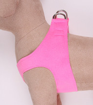 Plain Ultrasuede Pet Dog Step In Harness - Perfect Pink by Susan Lanci Designs
