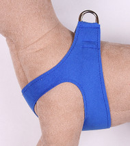 Plain Ultrasuede Pet Dog Step In Harness - Royal Blue by Susan Lanci Designs