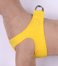 Plain Ultrasuede Pet Dog Step In Harness - Sunshine Yellow by Susan Lanci Designs