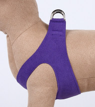 Plain Ultrasuede Pet Dog Step In Harness - Violet by Susan Lanci Designs