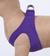 Plain Ultrasuede Pet Dog Step In Harness - Violet by Susan Lanci Designs