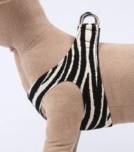 Plain Ultrasuede Pet Dog Step In Harness - Zebra Susan Lanci Designs