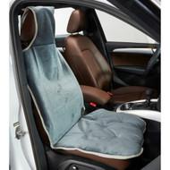 Elephant Blue Microvelvet Single Car Seat Cover