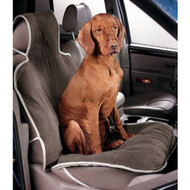 Taupe Microvelvet Single Car Seat Cover