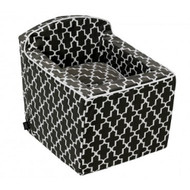 Graphite Lattice Microvelvet Luxury Car Booster Seat