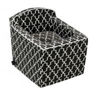 Graphite Lattice Microvelvet Luxury Car Booster Seat