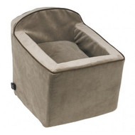 Taupe Microvelvet Luxury Car Booster Seat