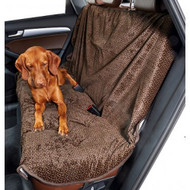 Chocolate Bones Microvelvet Vehicle Back Seat Cover