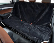 Ebony Microvelvet Vehicle Back Seat Cover