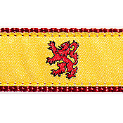 Scottish Rampant Lion 3/4 & 1.25 inch Dog Collar, Harness