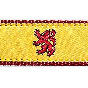 Scottish Rampant Lion 3/4 & 1.25 inch Dog Collar, Harness, Lead & Acc.