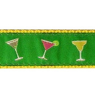 Happy Hour 3/4 & 1.25 inch Dog Collar, Harness