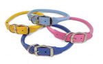 Rolled Round Leather Dog Collars